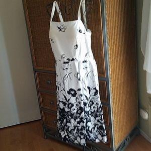 Black and white print sundress
